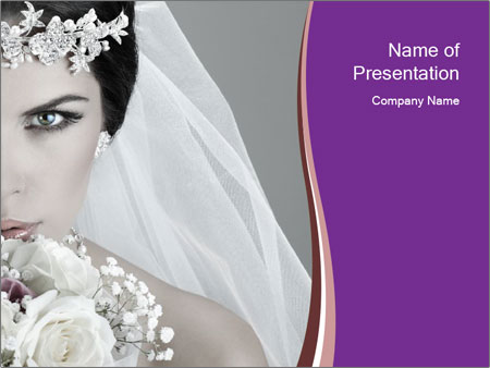 Beautiful bride PowerPoint Templates