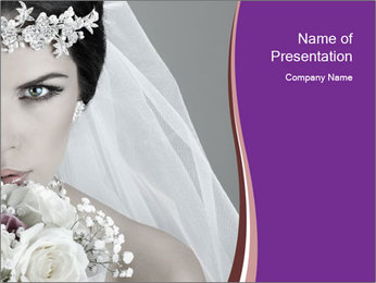 Beautiful bride PowerPoint Templates - Slide 1