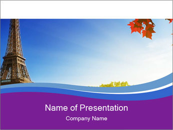 Eiffel Tower PowerPoint Templates - Slide 1