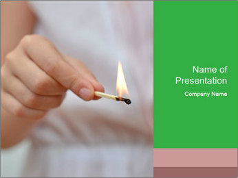 Burning PowerPoint Templates - Slide 1