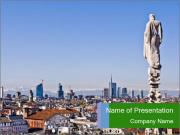 Milan panoramic skyline PowerPoint Templates