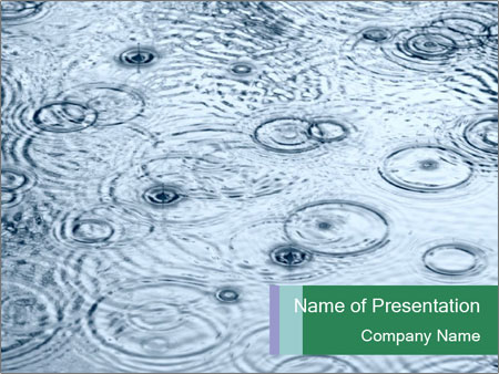 Rain drops PowerPoint Template