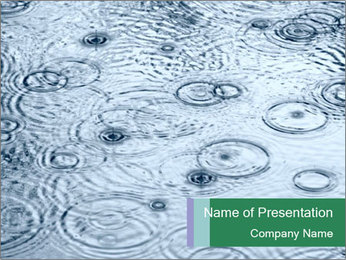 Rain drops PowerPoint Template - Slide 1