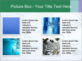 Rain drops PowerPoint Template - Slide 14