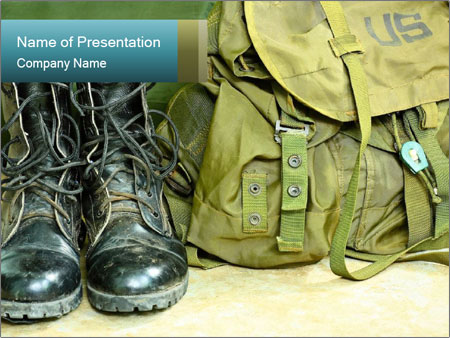 Army boots PowerPoint Template