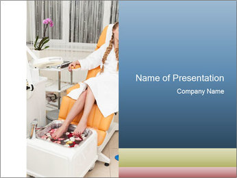 Beautiful girl PowerPoint Template - Slide 1