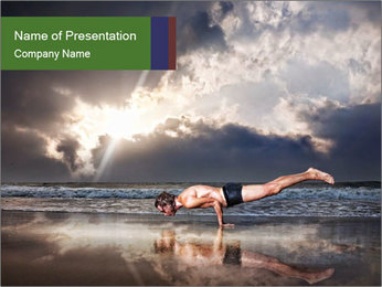 Yoga PowerPoint Template - Slide 1
