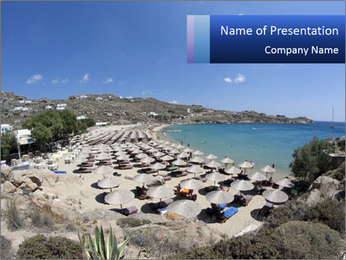 Paradise beach PowerPoint Template - Slide 1
