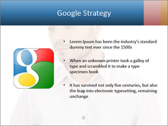 Man looking down PowerPoint Templates - Slide 10