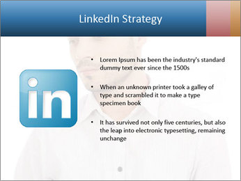 Man looking down PowerPoint Templates - Slide 12
