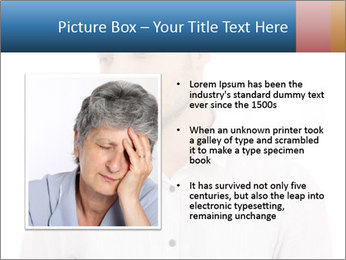 Man looking down PowerPoint Templates - Slide 13