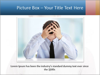 Man looking down PowerPoint Templates - Slide 16
