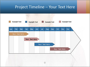 Man looking down PowerPoint Templates - Slide 25