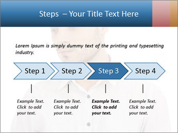 Man looking down PowerPoint Templates - Slide 4