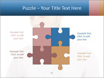 Man looking down PowerPoint Templates - Slide 43