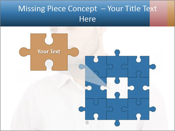 Man looking down PowerPoint Templates - Slide 45