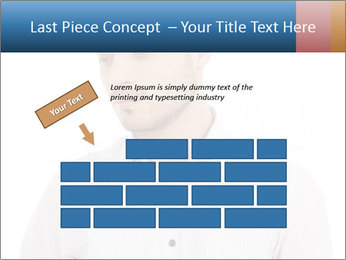 Man looking down PowerPoint Templates - Slide 46