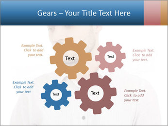 Man looking down PowerPoint Templates - Slide 47