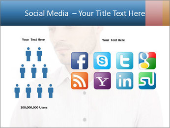 Man looking down PowerPoint Templates - Slide 5