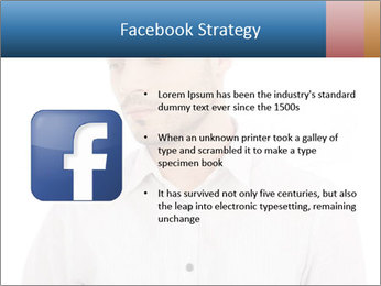 Man looking down PowerPoint Templates - Slide 6