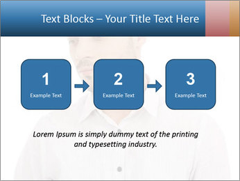 Man looking down PowerPoint Templates - Slide 71