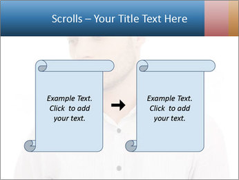 Man looking down PowerPoint Templates - Slide 74