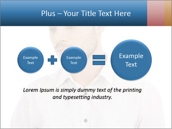 Man looking down PowerPoint Templates - Slide 75