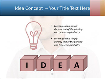 Man looking down PowerPoint Templates - Slide 80