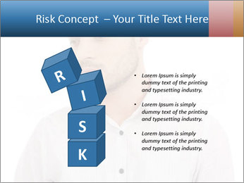 Man looking down PowerPoint Templates - Slide 81