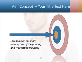 Man looking down PowerPoint Templates - Slide 83