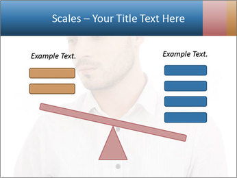 Man looking down PowerPoint Templates - Slide 89