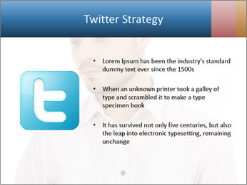 Man looking down PowerPoint Templates - Slide 9