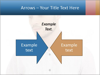 Man looking down PowerPoint Templates - Slide 90