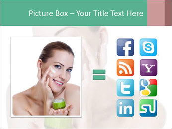 Beautiful woman applying cream PowerPoint Templates - Slide 21