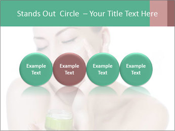 Beautiful woman applying cream PowerPoint Templates - Slide 76