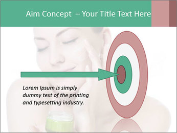 Beautiful woman applying cream PowerPoint Templates - Slide 83