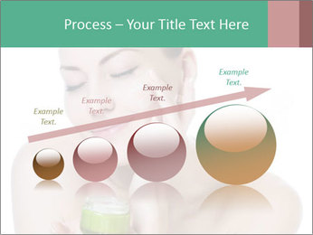 Beautiful woman applying cream PowerPoint Templates - Slide 87