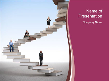 People on 3d book PowerPoint Templates