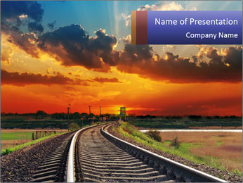 Red sunset PowerPoint Templates - Slide 1
