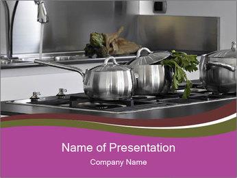 Detail of steel PowerPoint Template