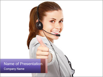 Young woman PowerPoint Template - Slide 1