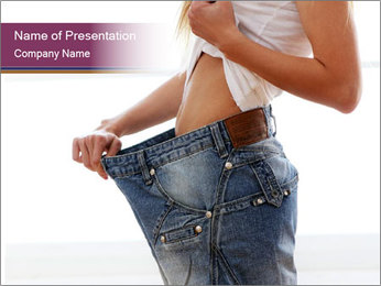 After weight loss PowerPoint Template - Slide 1