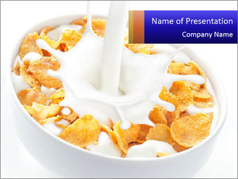 Milk PowerPoint Template - Slide 1
