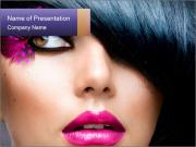 Brunette Model PowerPoint Templates