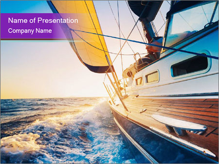Sailing into the sunset PowerPoint Template
