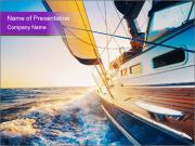 Sailing into the sunset PowerPoint Templates