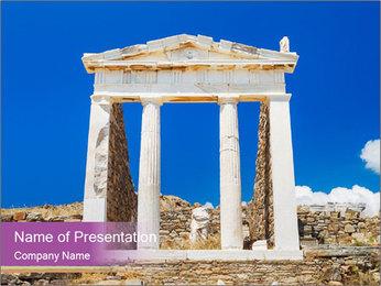 Greek Temple Ruins PowerPoint Template - Slide 1