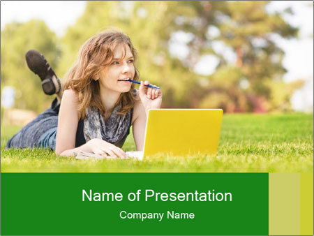 Woman lies PowerPoint Template
