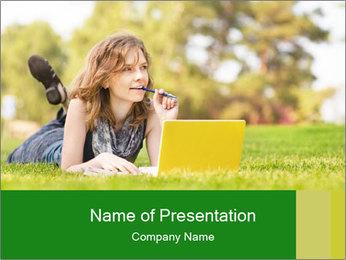 Woman lies PowerPoint Templates - Slide 1