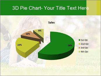 Woman lies PowerPoint Templates - Slide 35